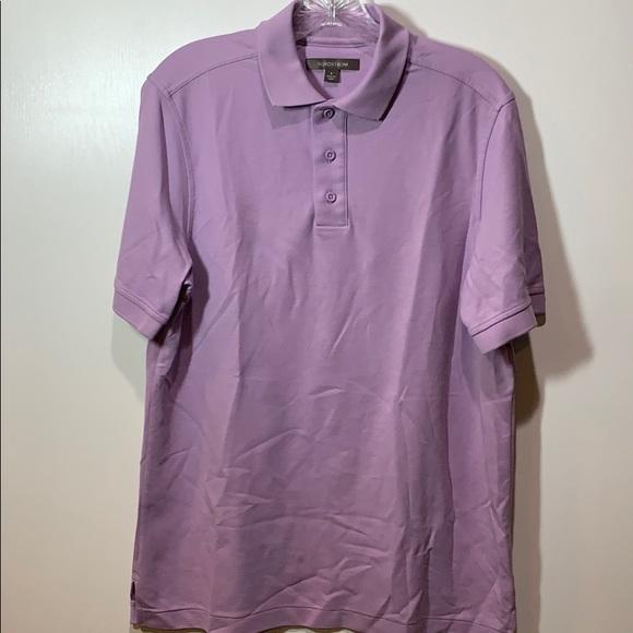 Nordstrom Men's Light Purple Polo Short Sleeve